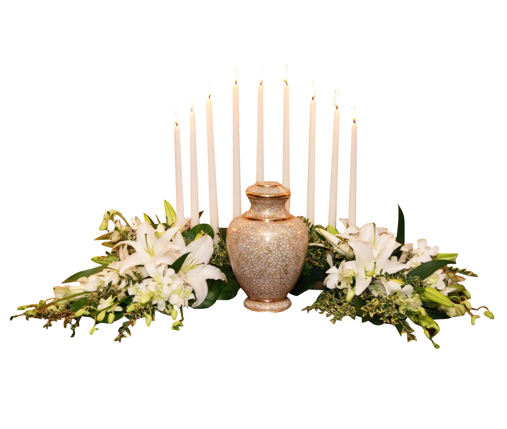 Memorial Taper Candle Crescent